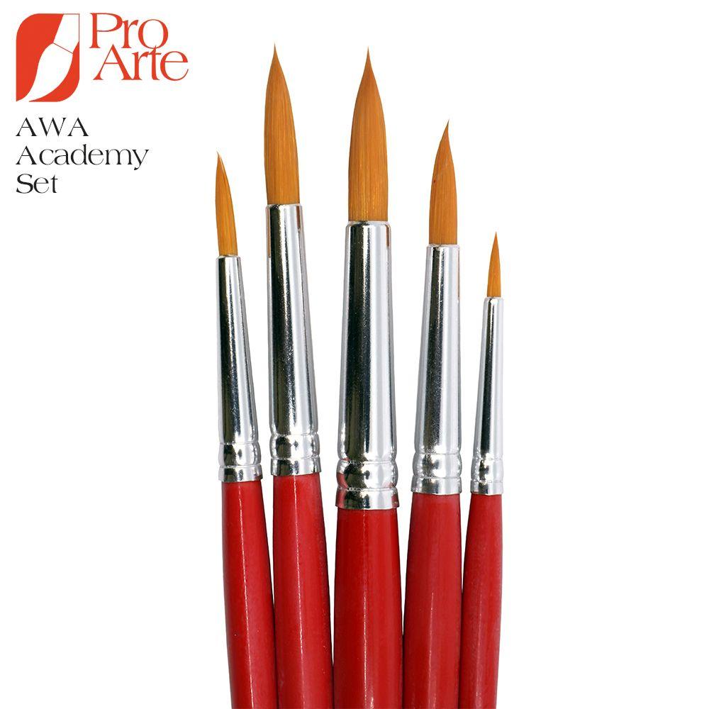 Pro Arte Academy Synthetic Brush Set of 5 AWA
