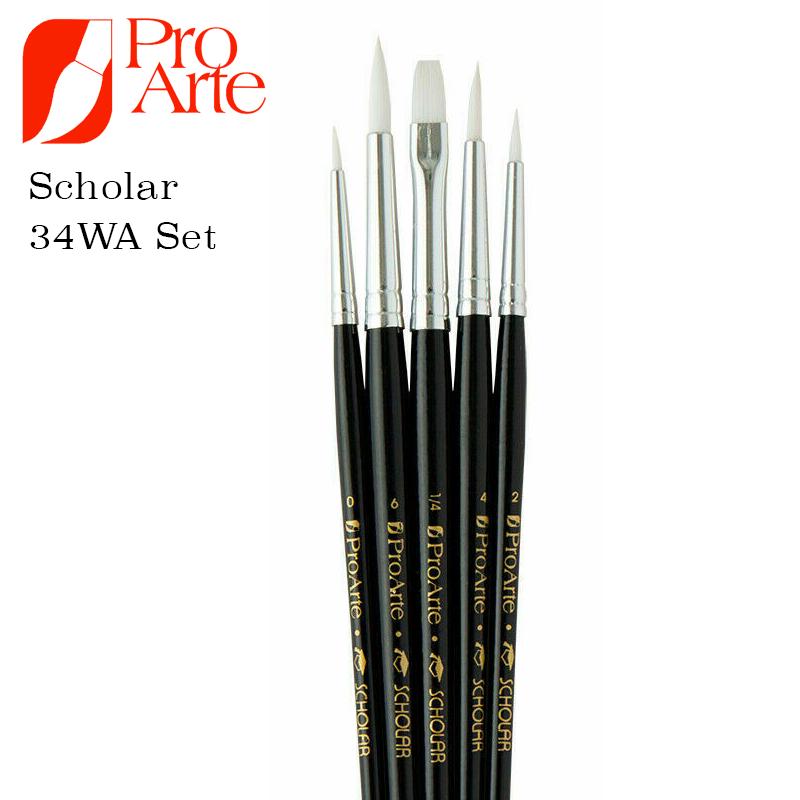Pro Arte Scholar Brush Wallet Set 34WA