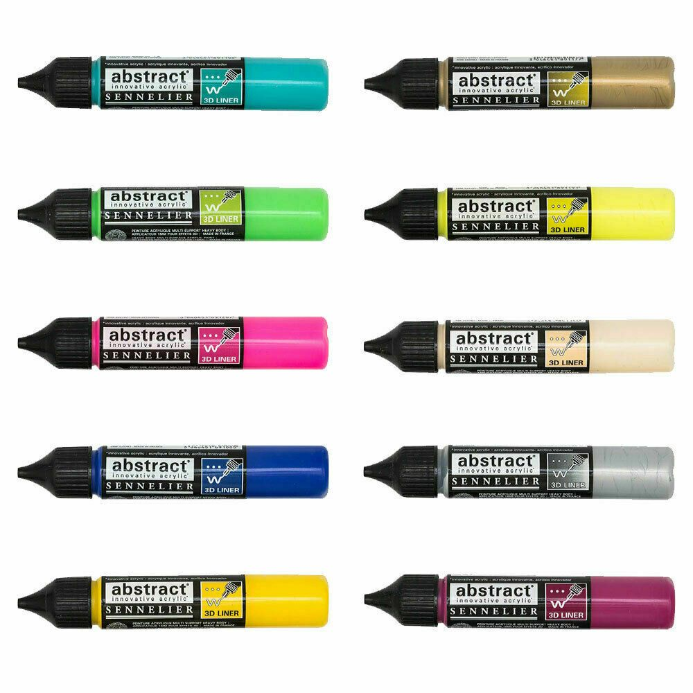 Sennelier Abstract Acrylic Paint Pen 3D Outliners 27ml