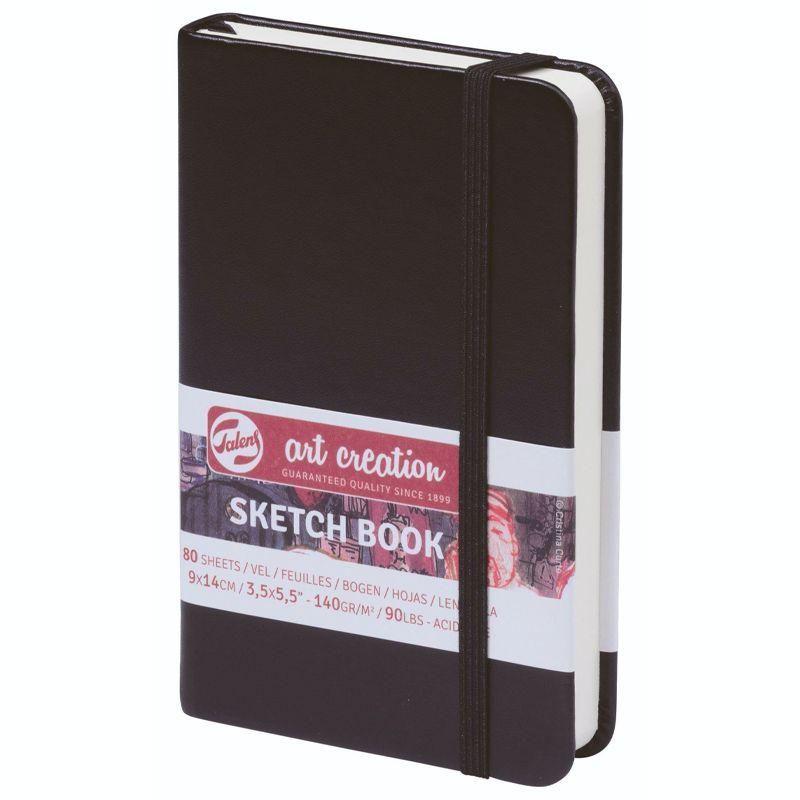 Royal Talens – Black Cover Art Creation Hardback Sketchbook – 80 Sheets - 140gsm Pads