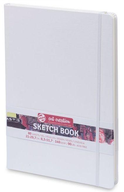 Royal Talens – White Cover Art Creation Hardback Sketchbook – 80 Sheets - 140gsm Pads