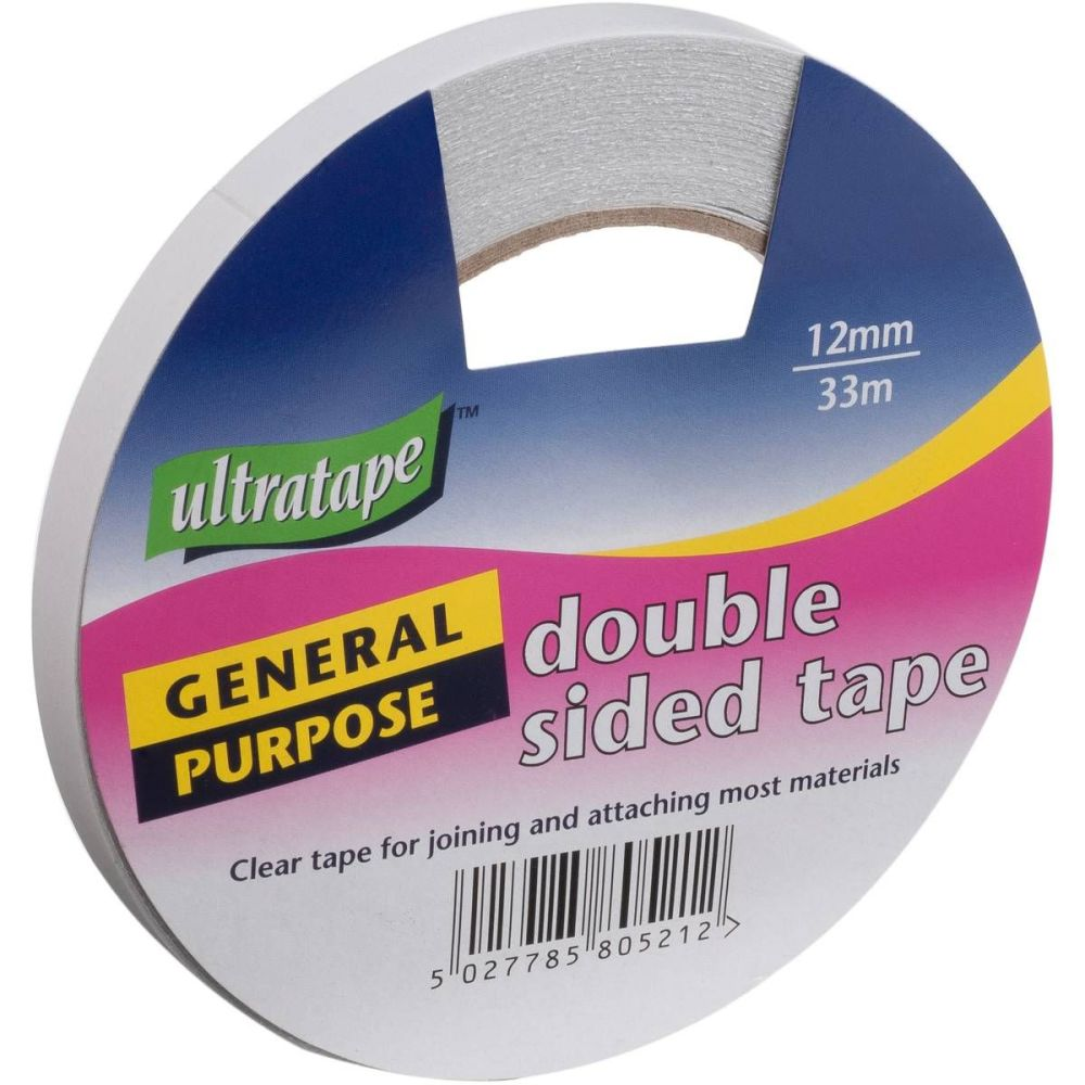Ultratape Double Sided Sticky Tape Strong Adhesive Sellotape