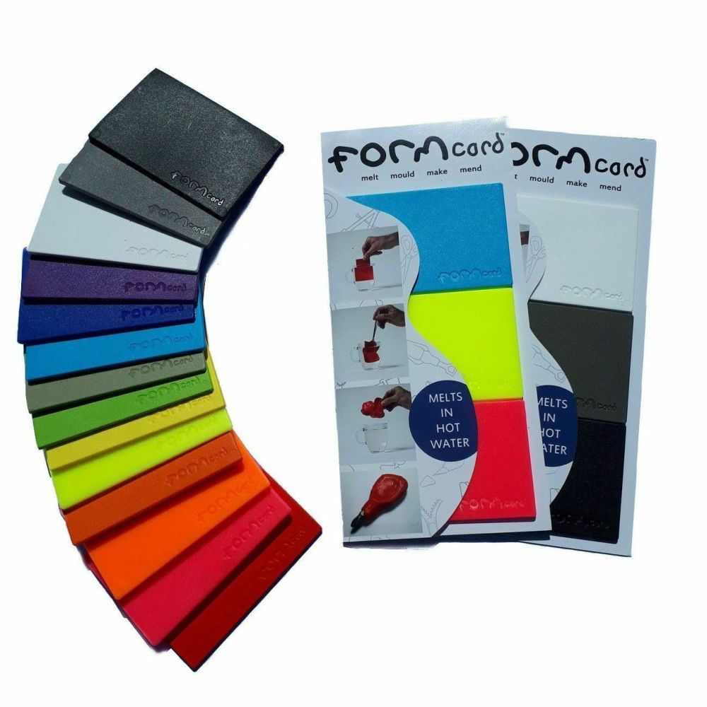 Formcard - Melt Mould Make Mend Biodegradable Plastic Pack of 3 Mono or Col