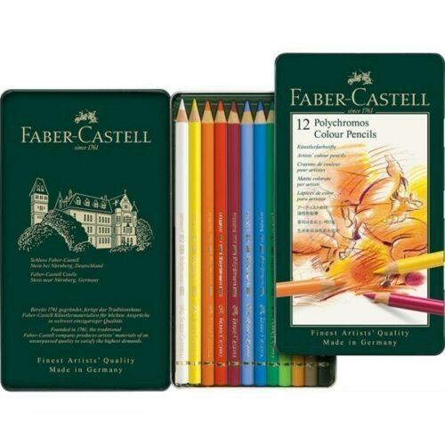 Faber Castell Polychromos Colouring Pencils - Tin of 12