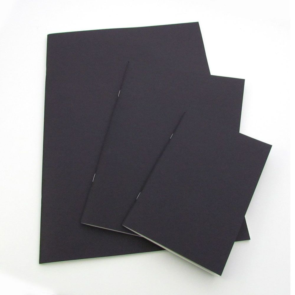 Seawhite Starter Sketchbooks Black Cover - A6, A5, A4 or Square