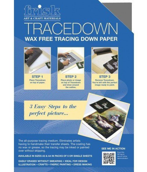 Frisk Tracedown Paper Pack of 5 sheets