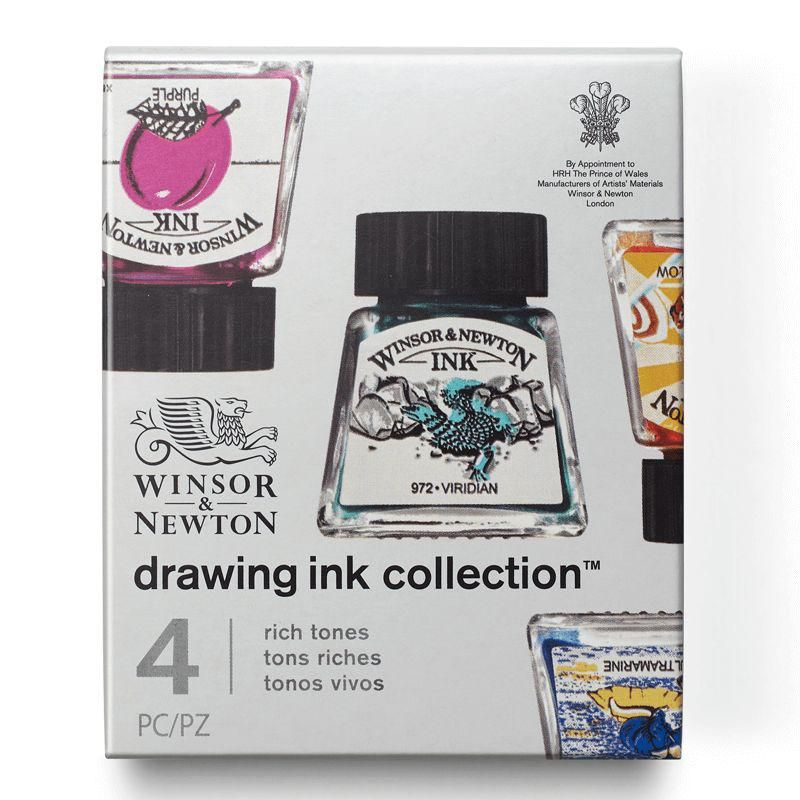 Winsor & Newton Drawing Ink Collection: Rich Tones (4 x 14ml)