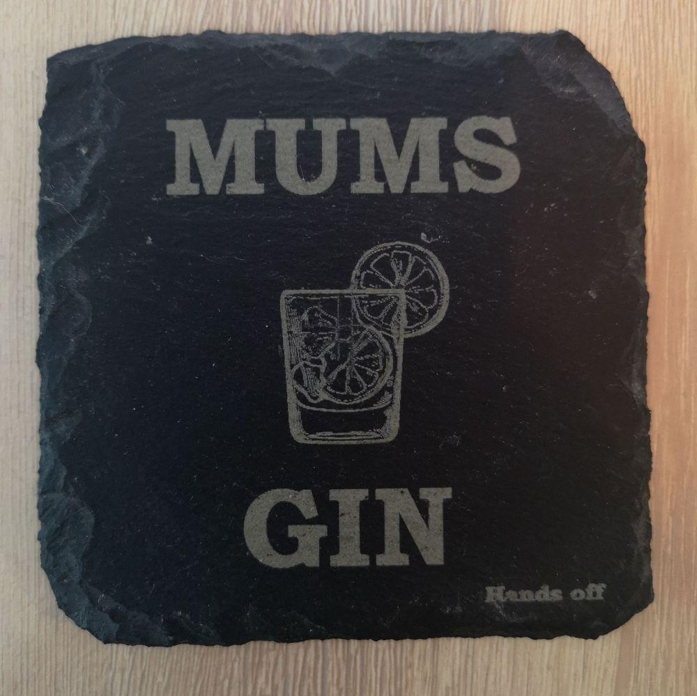 Mums Gin Coaster - Slate, Oak or Glass
