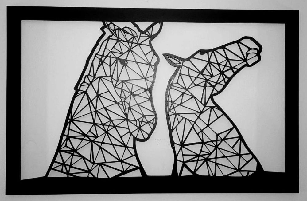 Geometric Kelpies at Falkirk - Wall Art