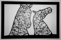 Geometric Kelpies at Falkirk - Wall Art