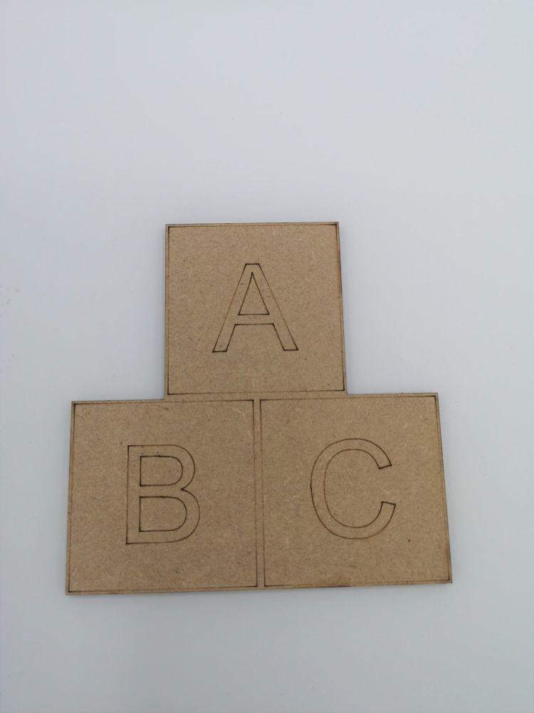Baby ABC Blank Craft Shape