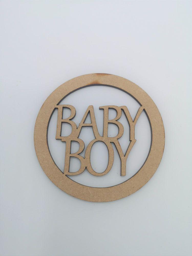 Baby Boy Blank Craft Shape