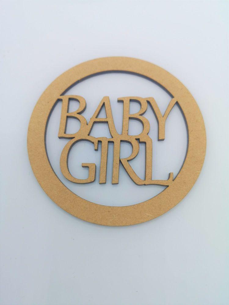 Baby Girl Blank Craft Shape