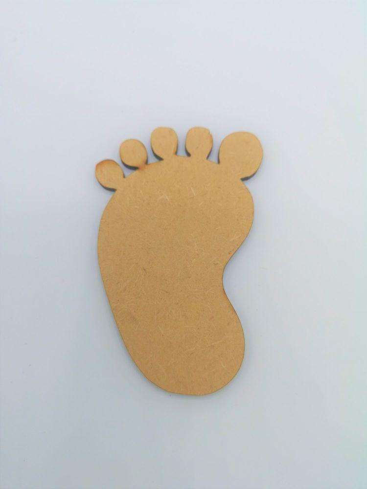 Baby Foot Blank Craft Shape