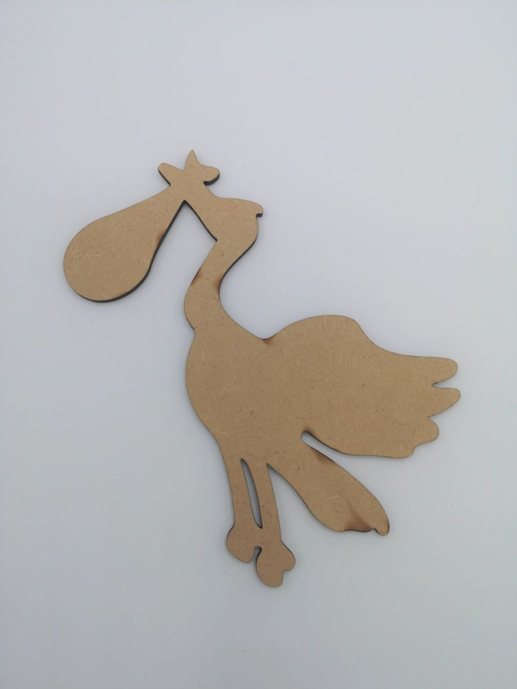 Baby Stork Blank Craft Shape