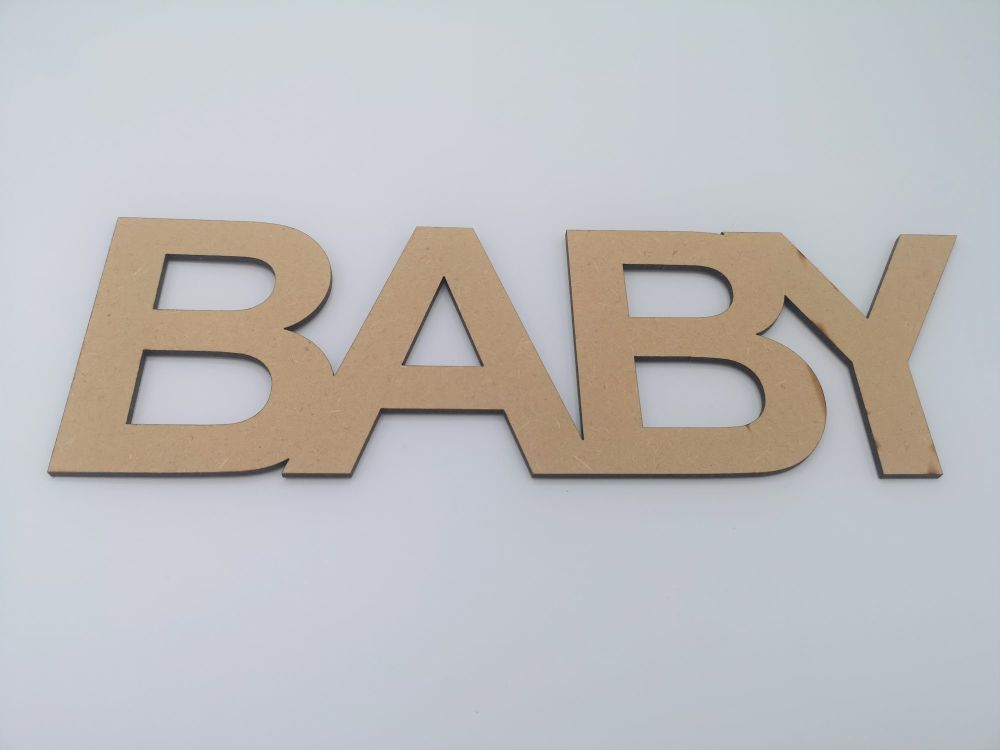 Joined Baby Lettering for Crafting - Uppercase