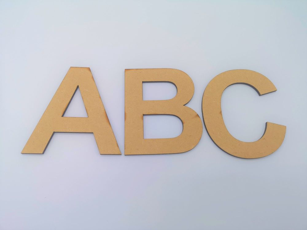 Bold Uppercase ABC Lettering