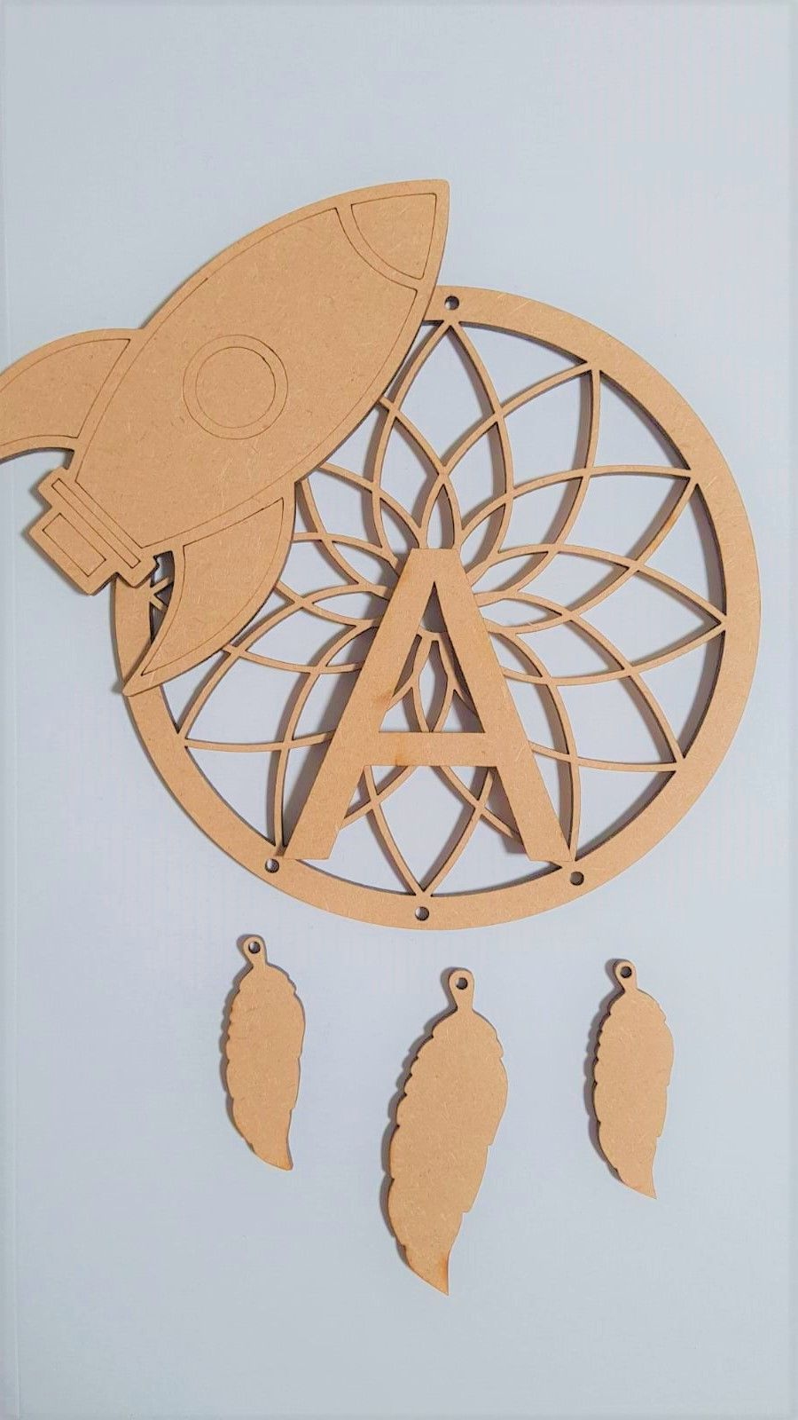 Rocket Dream Catcher with Name