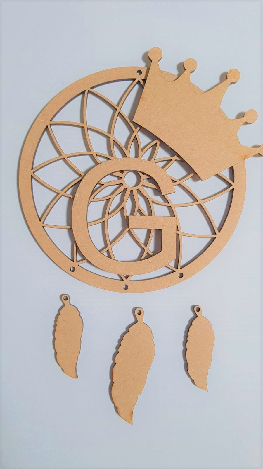 Crown Dream Catcher with Name