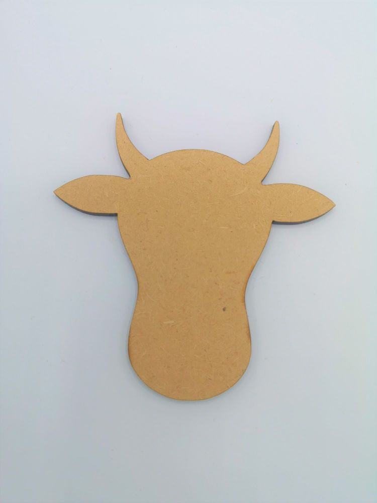 Wooden Cow Head - Craft Shape