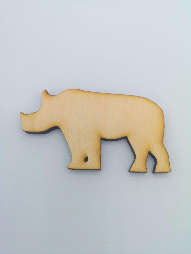 Wooden Rhino - Craft Shape