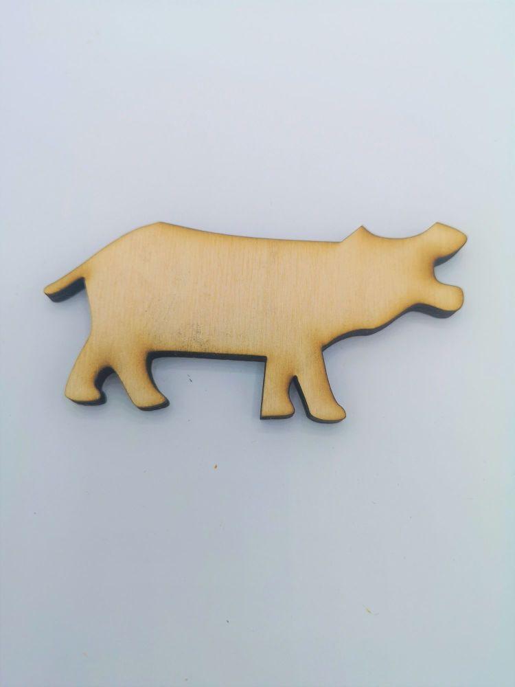 Wooden Hippo - Craft Shape