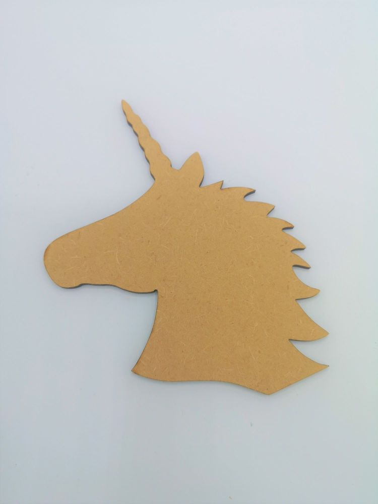 Wooden Unicorn Head - Craft Shape