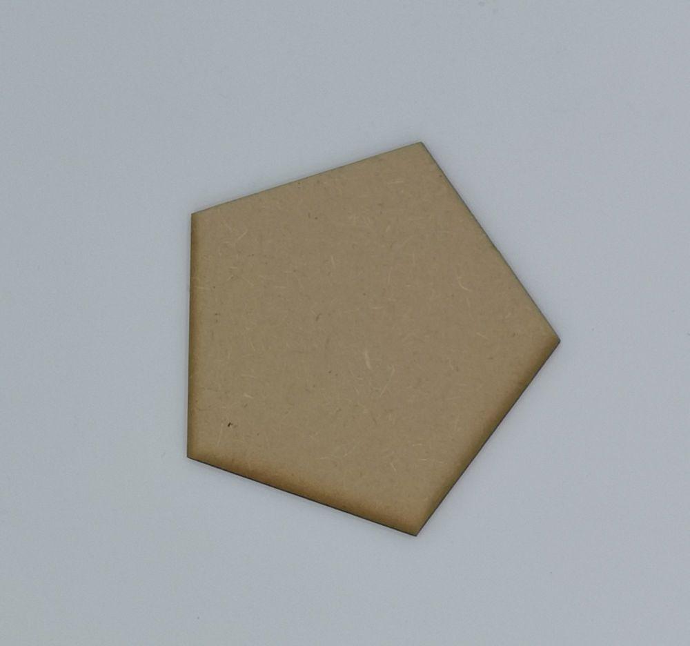 Wooden Pentagon - Craft Shape