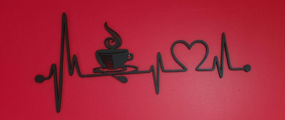 Love Coffee - Heartbeat - Wall Hanging