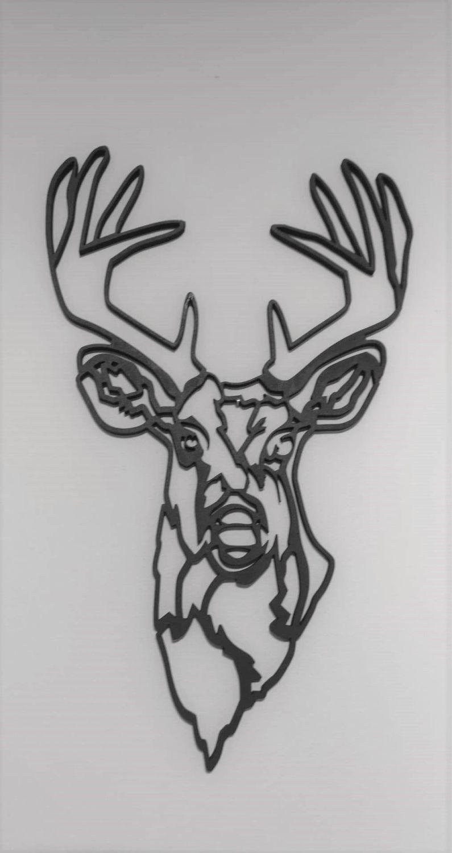Geometric Stag Head (style B)