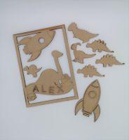 Dinosaur and Rocket Children's Crafting Kit