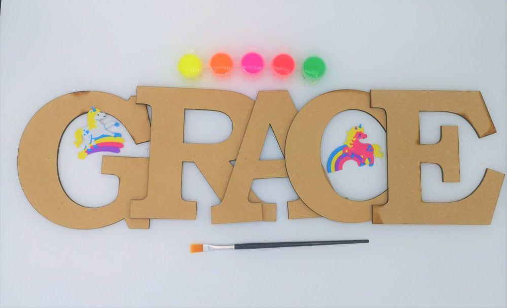 Large Letter Children's Crafting Kit
