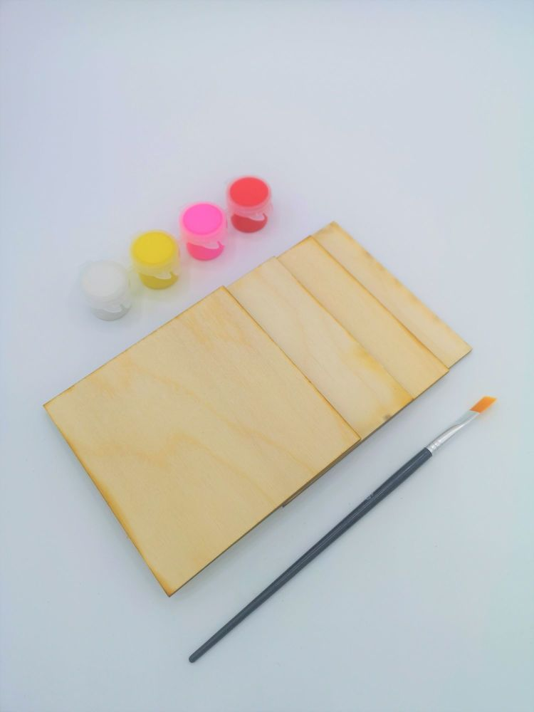 Paint your own square coasters