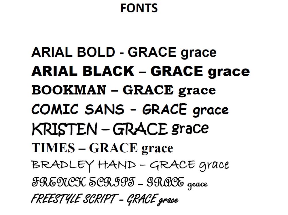 Text - Fonts