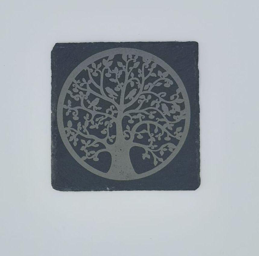 Tree of Life Coasters Pack of 4 or 6 - Slate, Oak or Glass