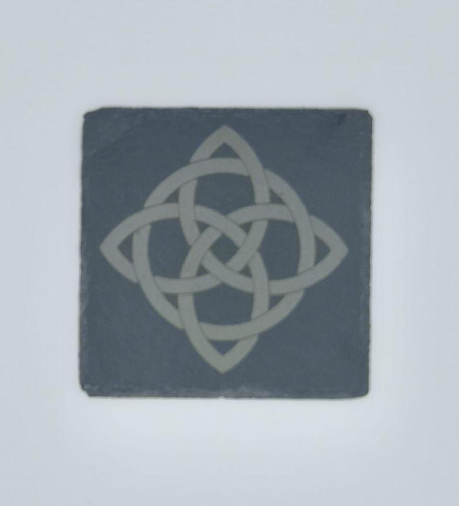 Celtic Knot Coasters -Pack of 4 or 6 - Slate, Oak or Glass