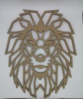 Geometric Lion Wall Hanging