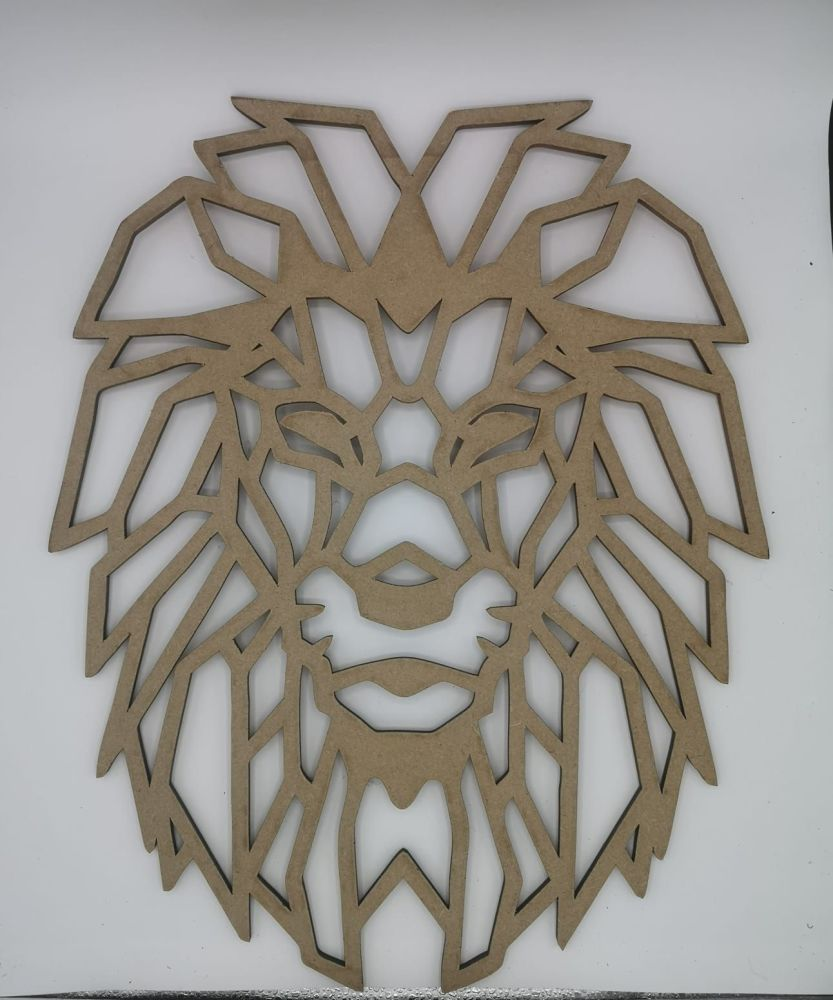 Geometric Lion Wall Hanging