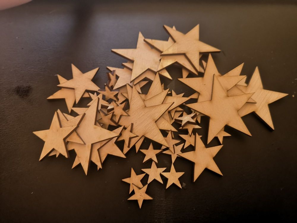 Wooden Crafting Stars
