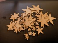 Wooden Crafting Stars - Pack of 50