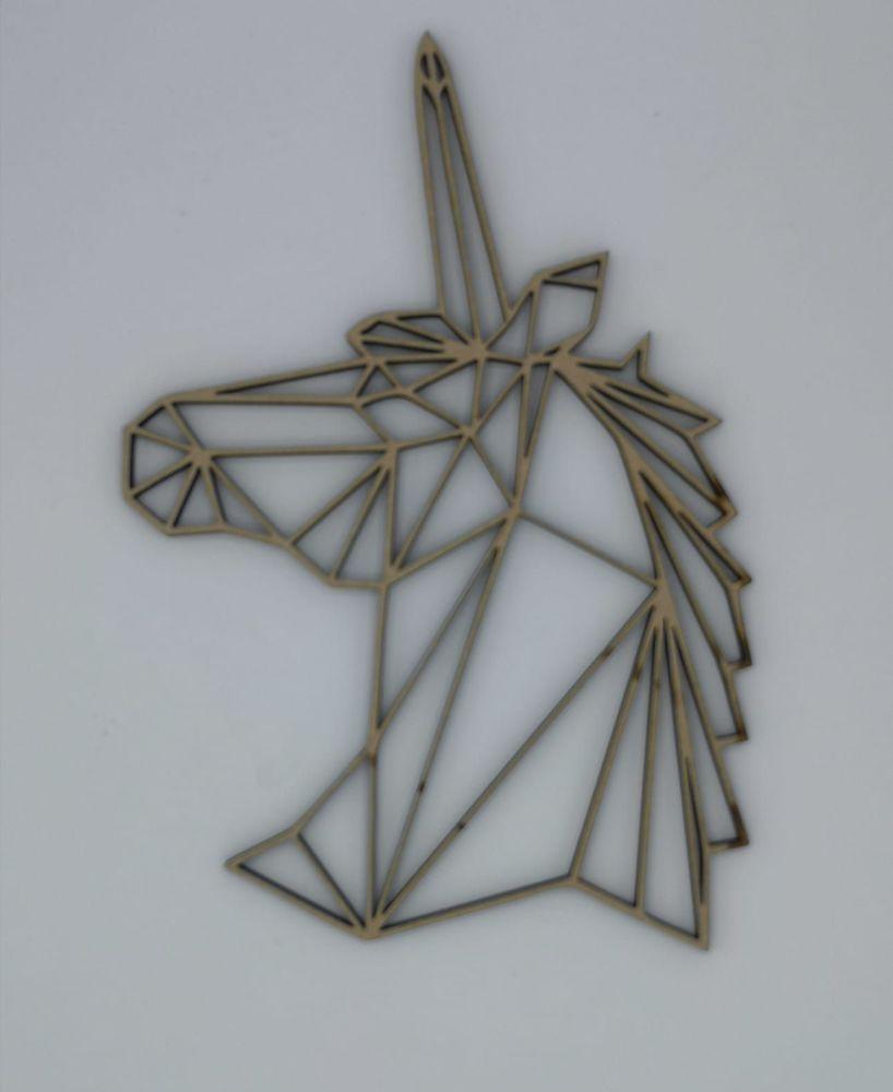 Geometric Unicorn Head - Wall Art