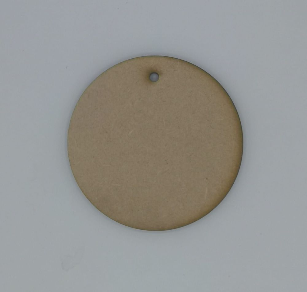 Round MDF Plaque for Crafting - Hanging