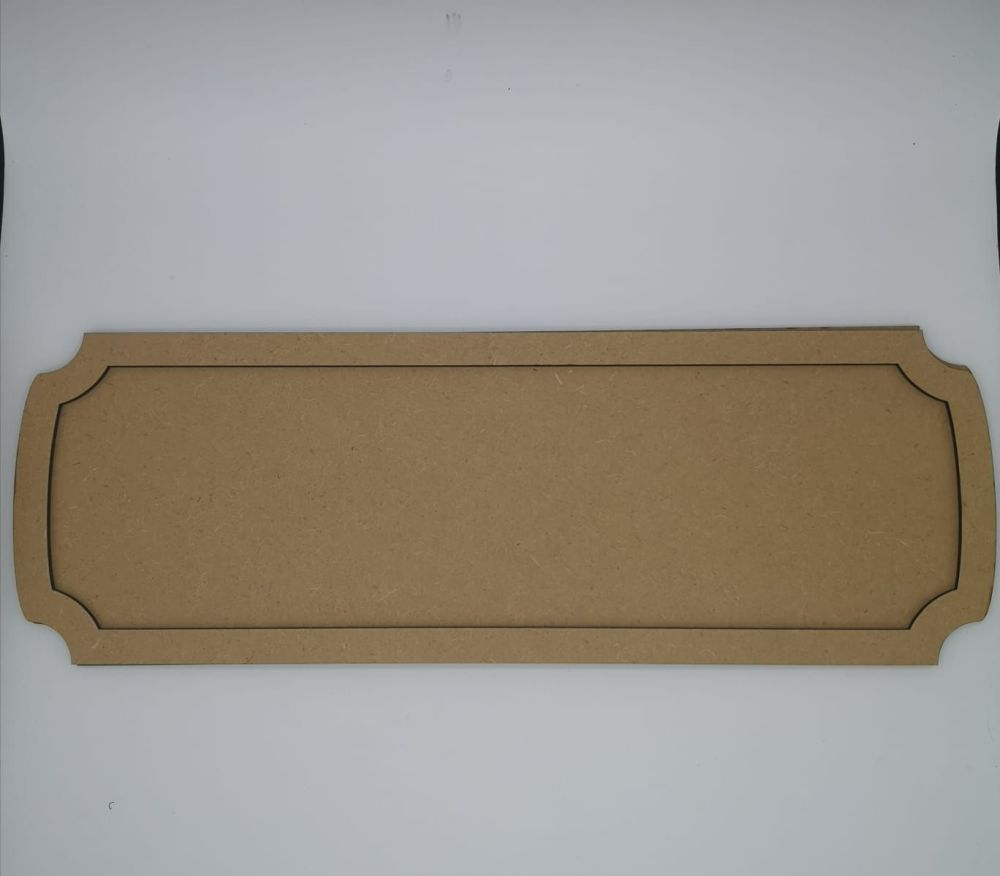 Blank MDF Name Plaque and Frame for Crafting - Curved Corners