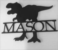 Dinosaur Name Plaque