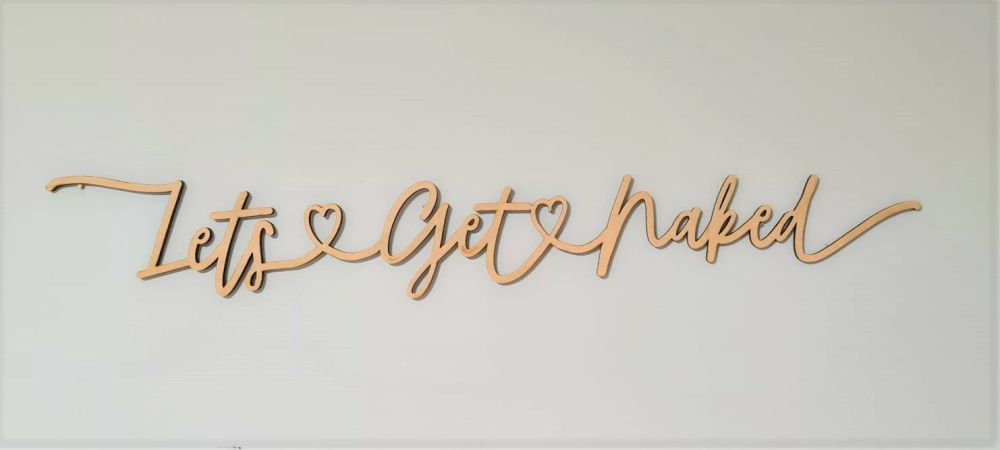 Lets Get Naked - Wall Hanging