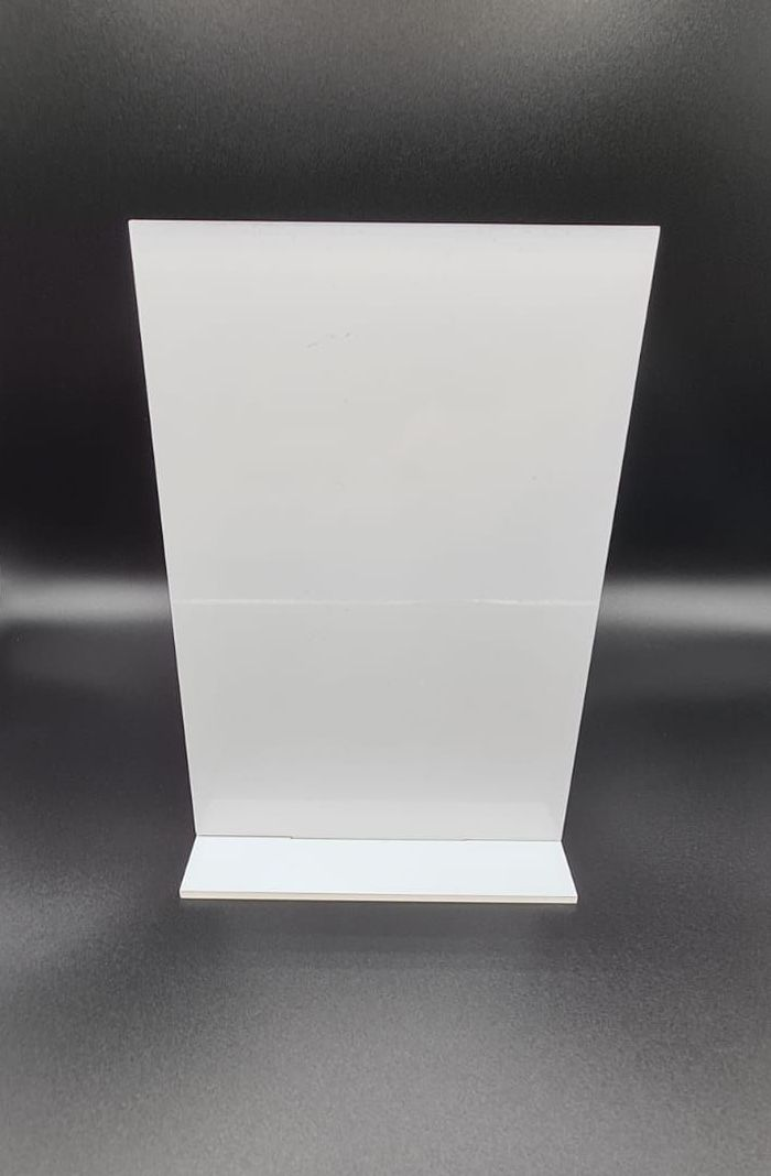 Freestanding Acrylic Rectangle - A5 (Portrait) - 12 Pack