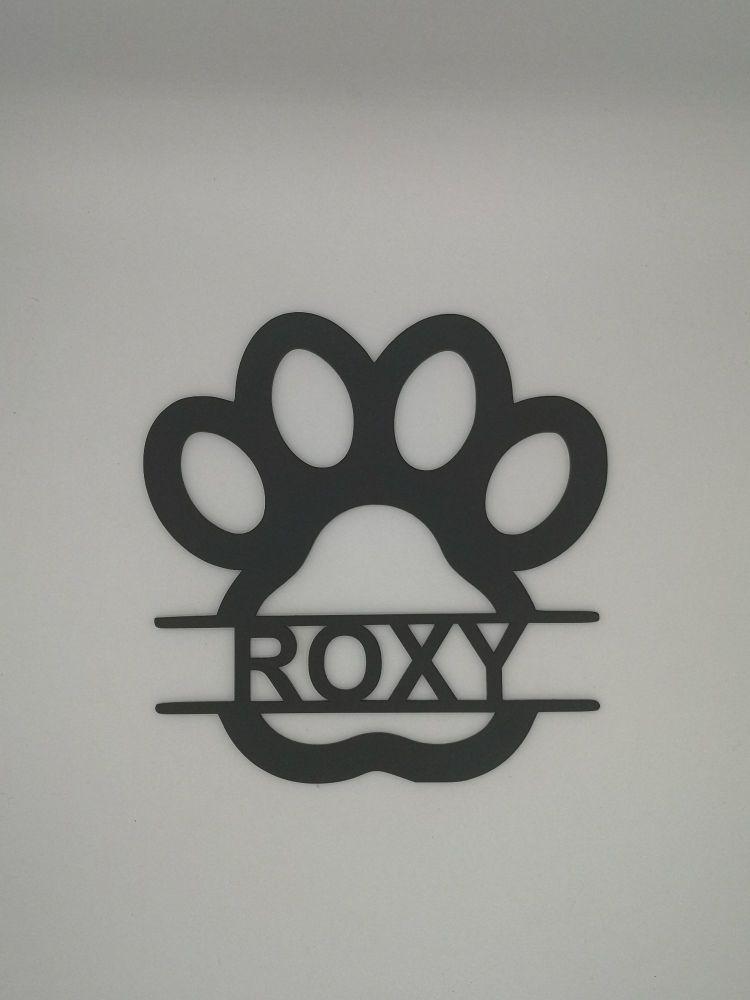 Paw print Name Plaque