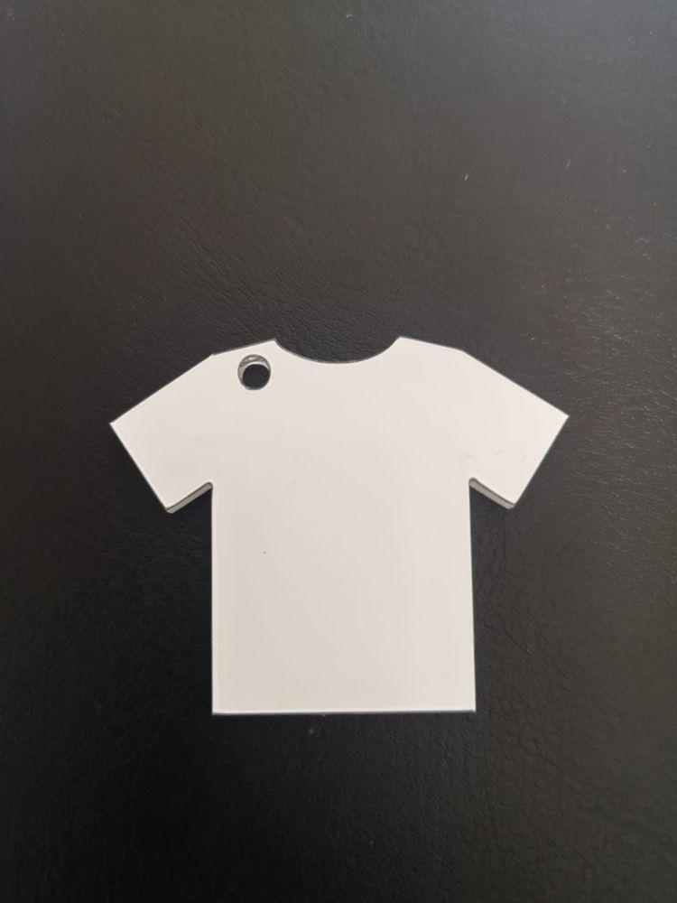 Blank Clear Acrylic Football Shirt Keyring