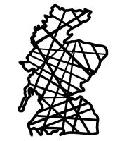Geometric Scotland Map - Wall Art