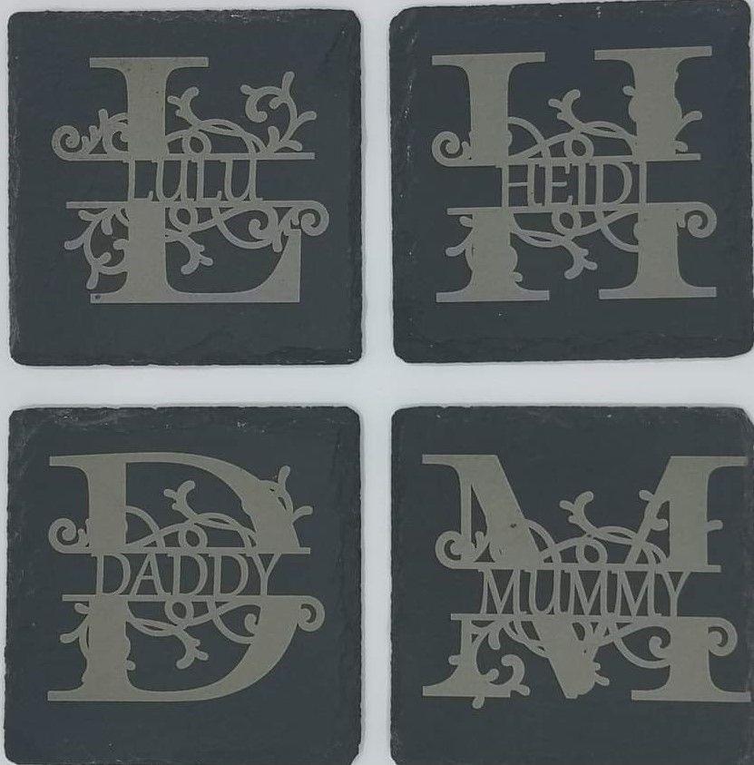 Personalised Slate Coasters